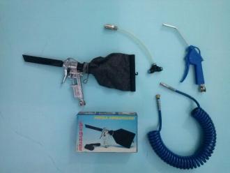 kit per cabina composto da pistola soffiaggio aria, aspirapolvere, spirale in poliuretano