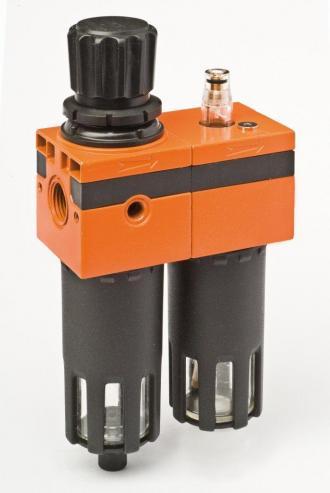gruppo filtro regolatore lubrificatore trattamento aria compressa